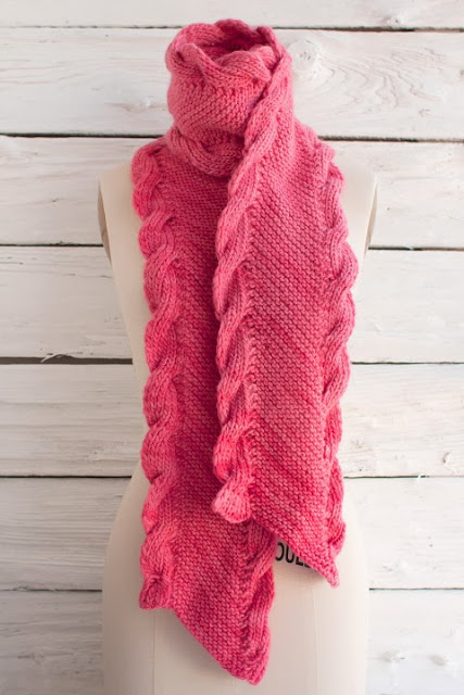 Maxima Bias Scarf Free Knitting Pattern