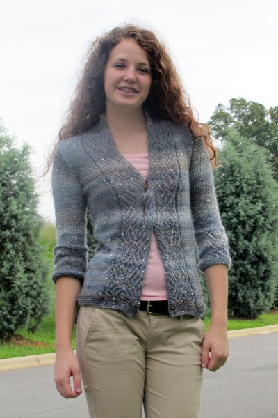 Sparkle in the Storm Cardigan Free Knitting Pattern