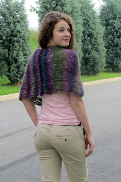 Zigzag Shawlette Free Knitting Pattern