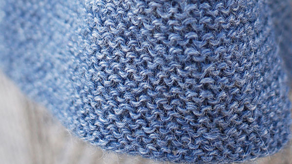 Beignet Scarf shown, closeup