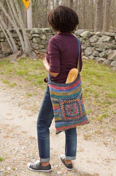 Striped Bag Free Knitting Pattern