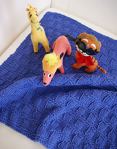 Sprout Baby Blanket Free Knitting Pattern
