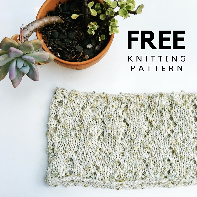 Solare Cowl Free Knitting Pattern