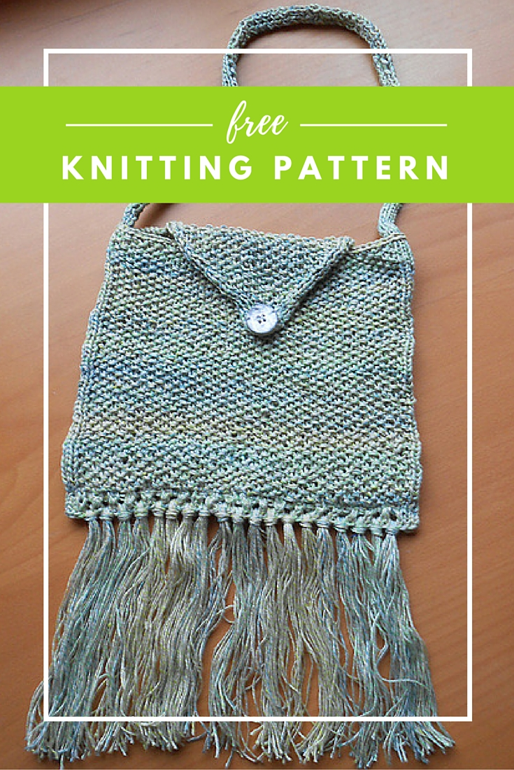 Fringe Bag Free Knitting Pattern