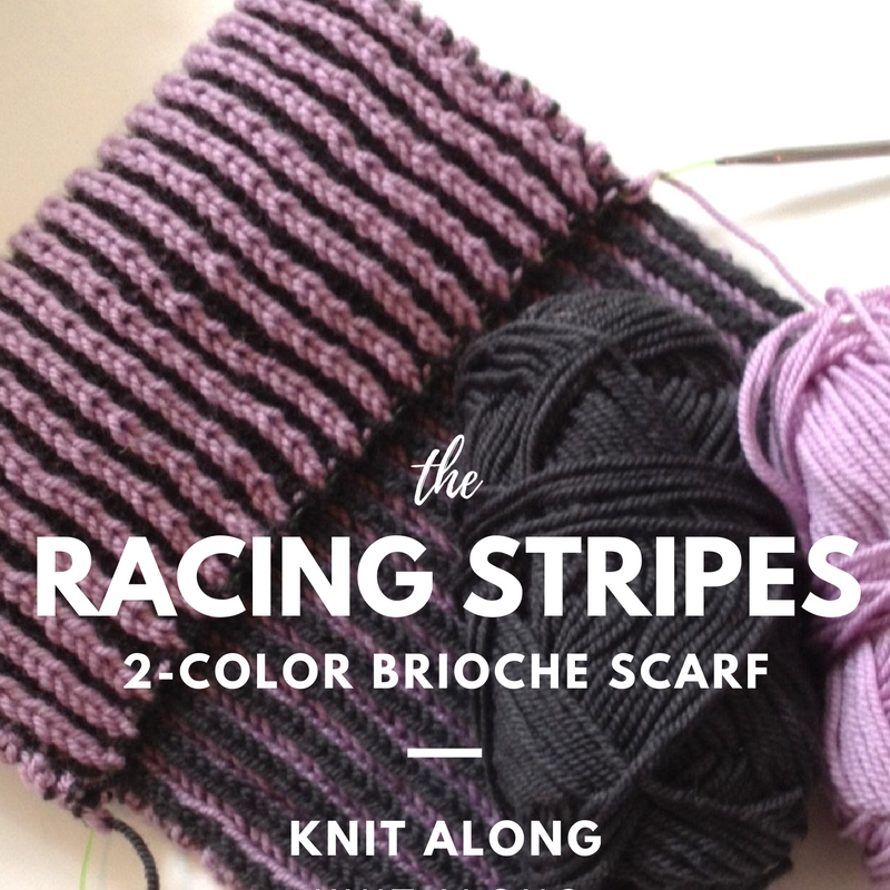 Racing Stripes 2-Color Brioche Knit Along