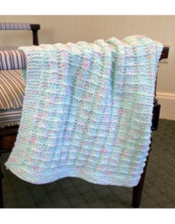 Textured Baby Blanke t Free Knitting Pattern