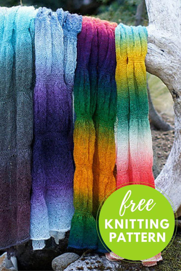 Gathered Stole Free Knitting Pattern   Blog.NobleKnits