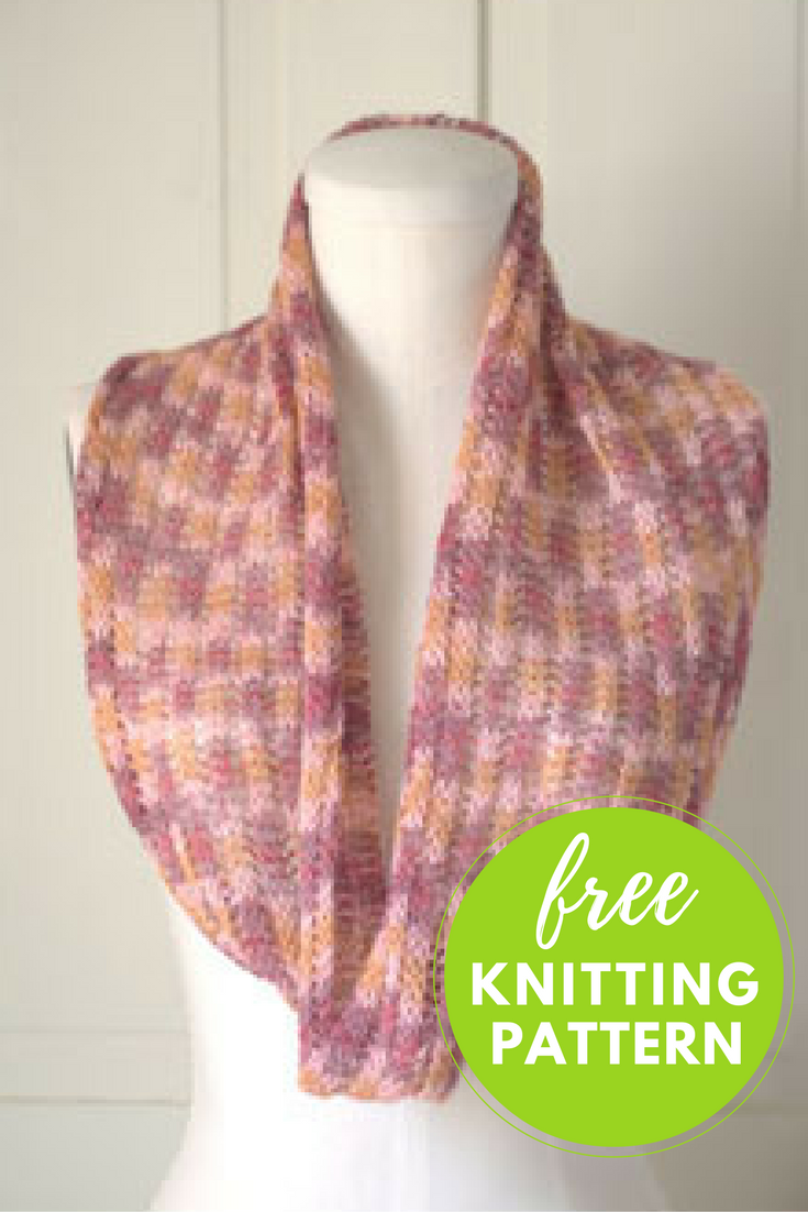 Mock Ribbed Cowl Free Knitting Pattern