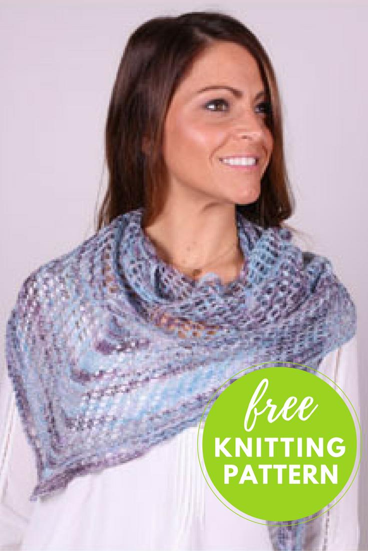 Mesh Lace Shawl Free Knitting Pattern