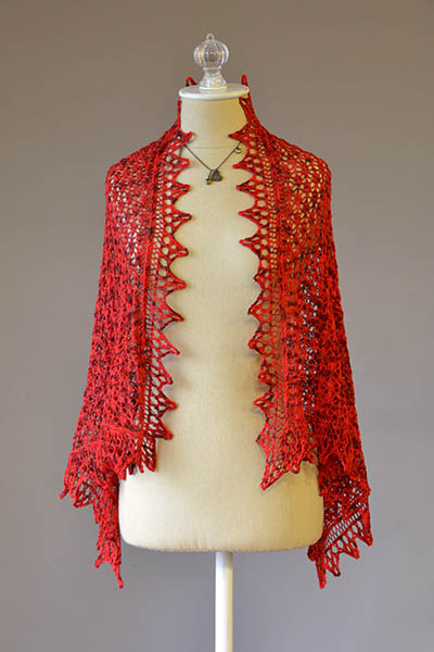 I Heart You Lace Shawl Free Knitting Pattern