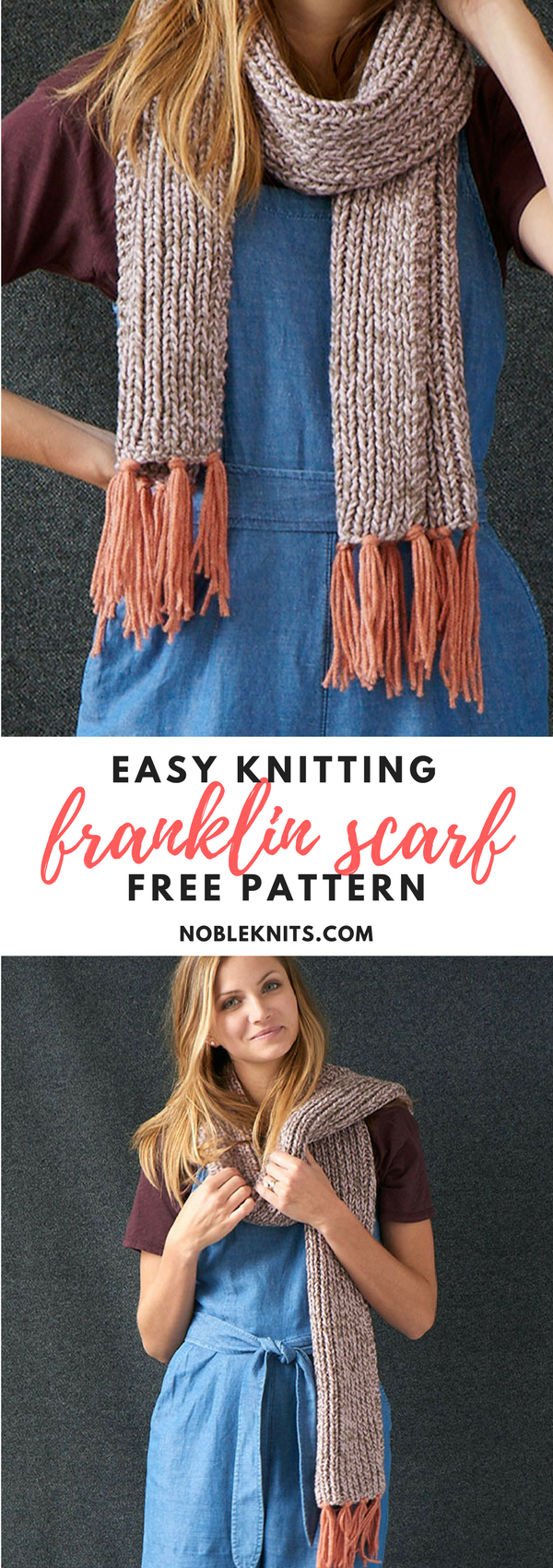 Easy! Franklin Fringe Scarf Free Knitting Pattern