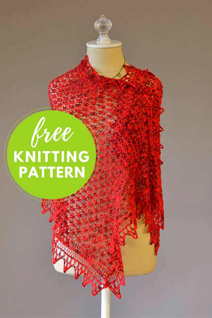 I Heart You Shawl Free Knitting Pattern