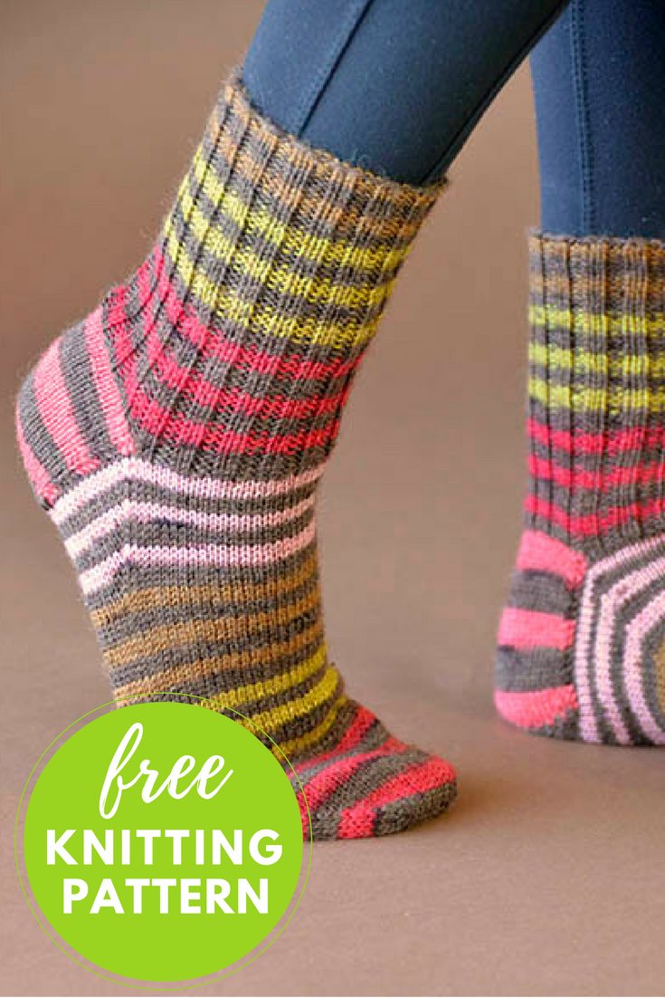 Back to Basics Socks Free Knitting Pattern - 1 skein knitting project!