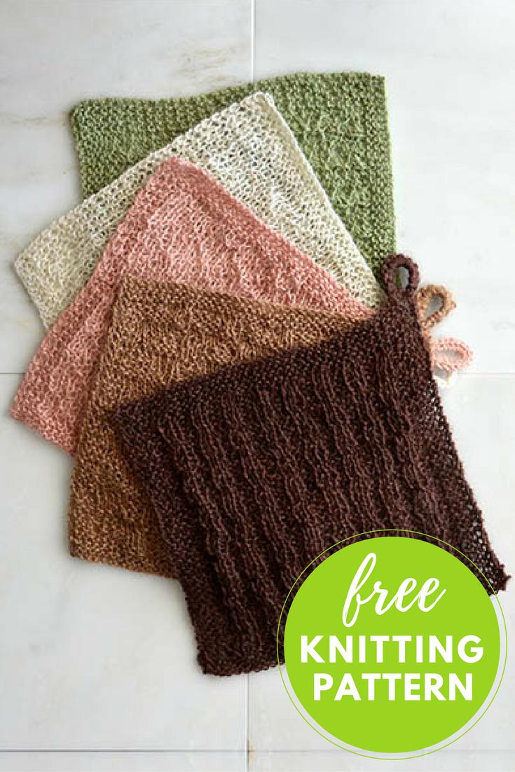 Stitch Sampler Washcloths Free Knitting Pattern — Blog.NobleKnits