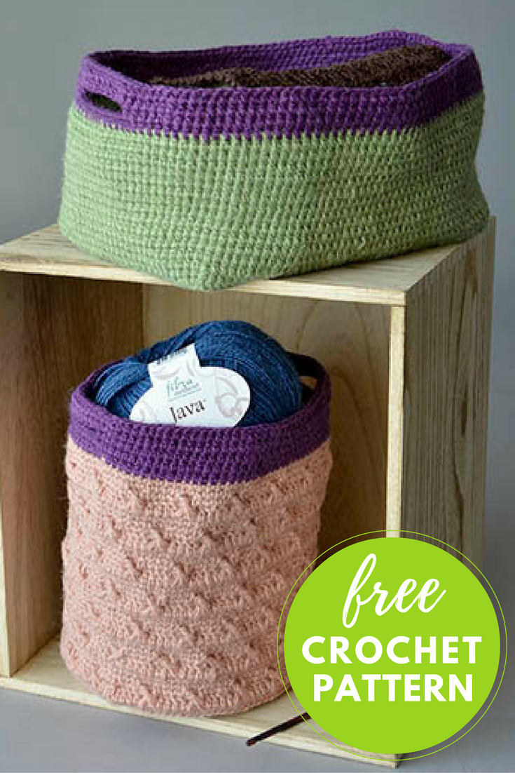 Hemp Baskets Free Crochet Pattern
