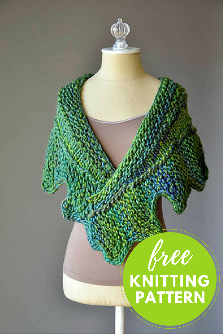 Knitting Pattern Conversion : Cog Shawlette Free Knitting Pattern   Blog.NobleKnits