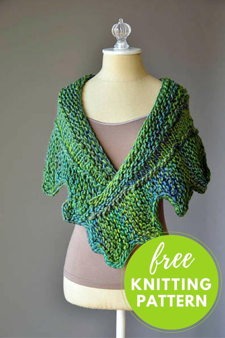 Cog Shawlette Free Knitting Pattern — Blog.NobleKnits