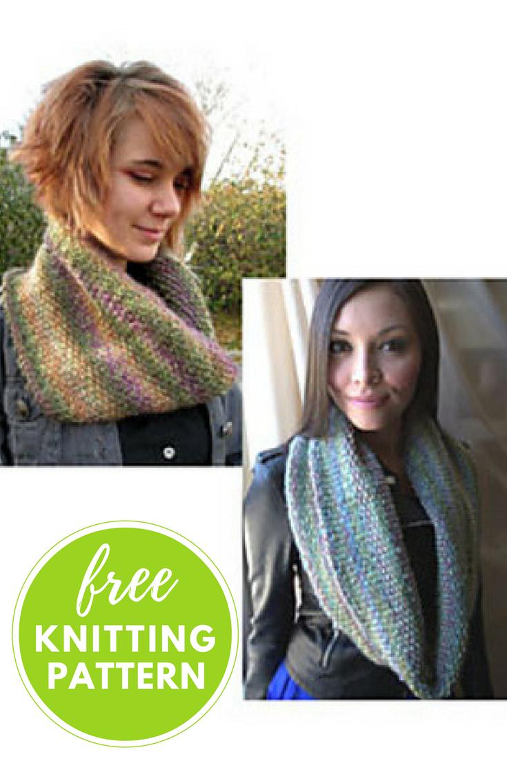 Slip Stitch Cowls Free Knitting Pattern
