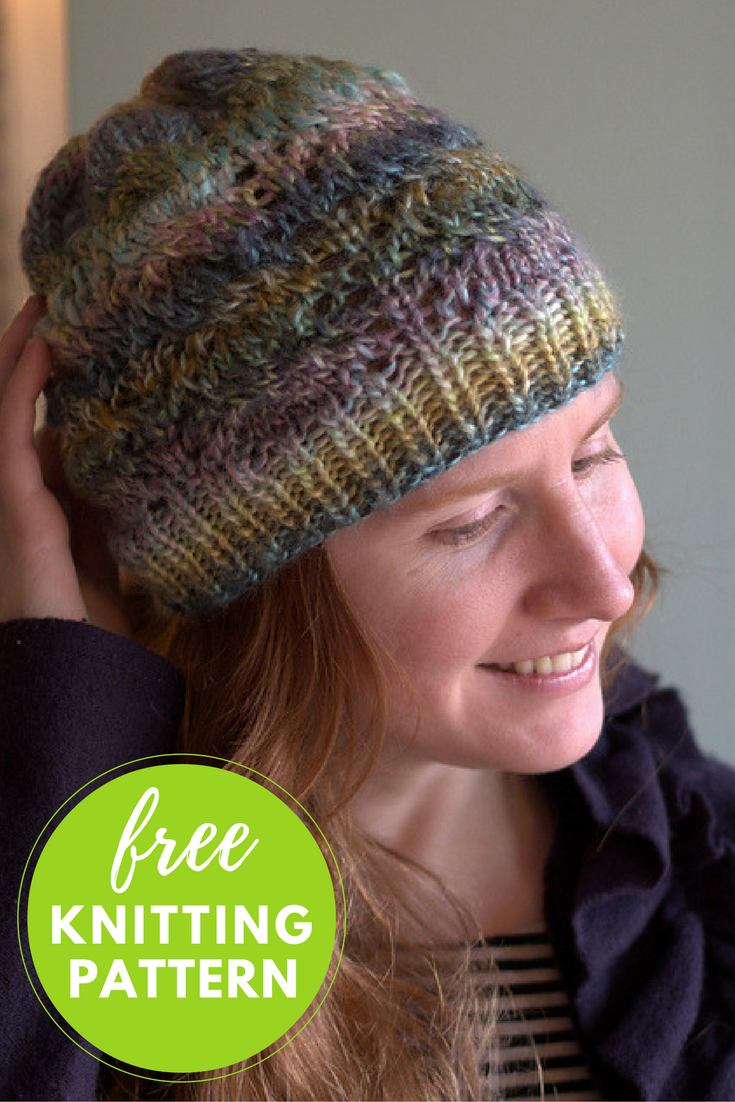 Cable Hat Free Knitting Pattern - 1 skein project!