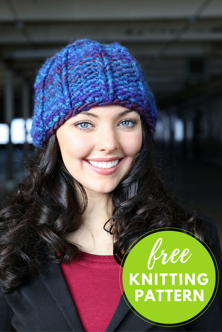 Free Knitting Pattern: Easy Cannoli Hat!