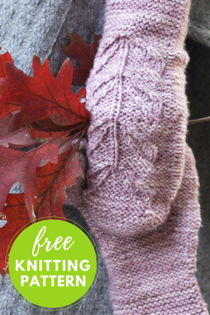 Lyra Mittens Free Knitting pattern - One Skein Project!