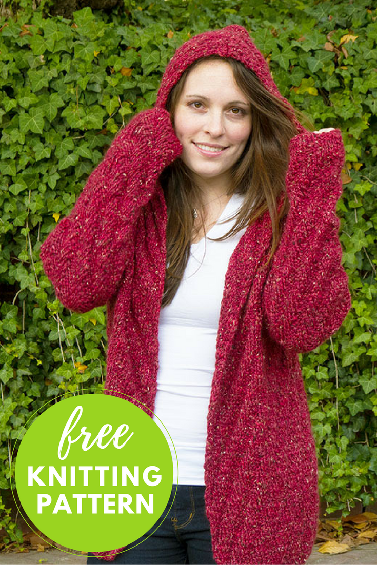Free Knitting Pattern: Niall Hooded Cardigan