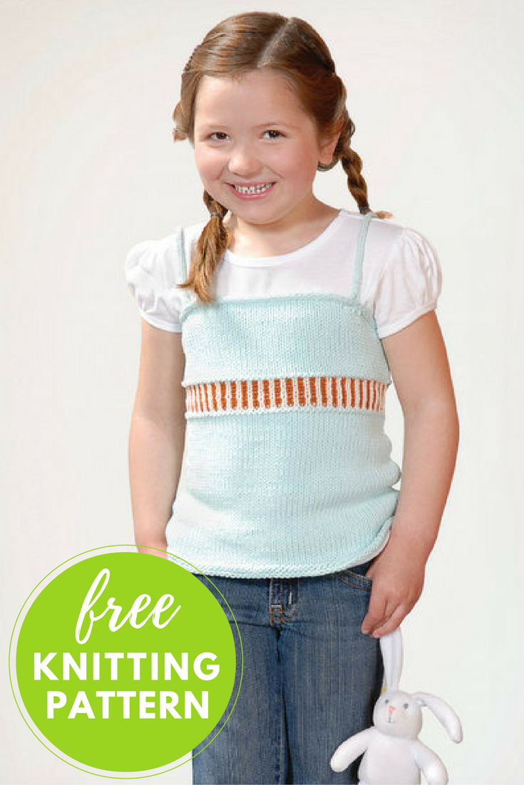 Girls Skinny Tank Free Knitting Pattern