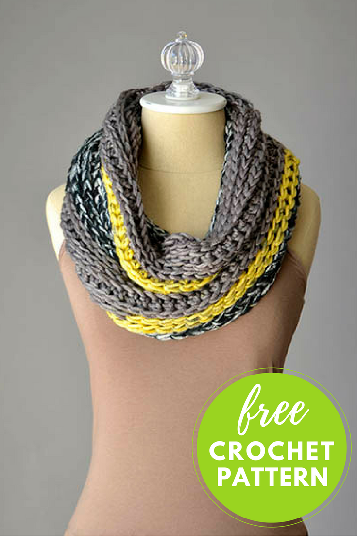 Easy Cowl Free Crochet Pattern - 1 Skein Project!