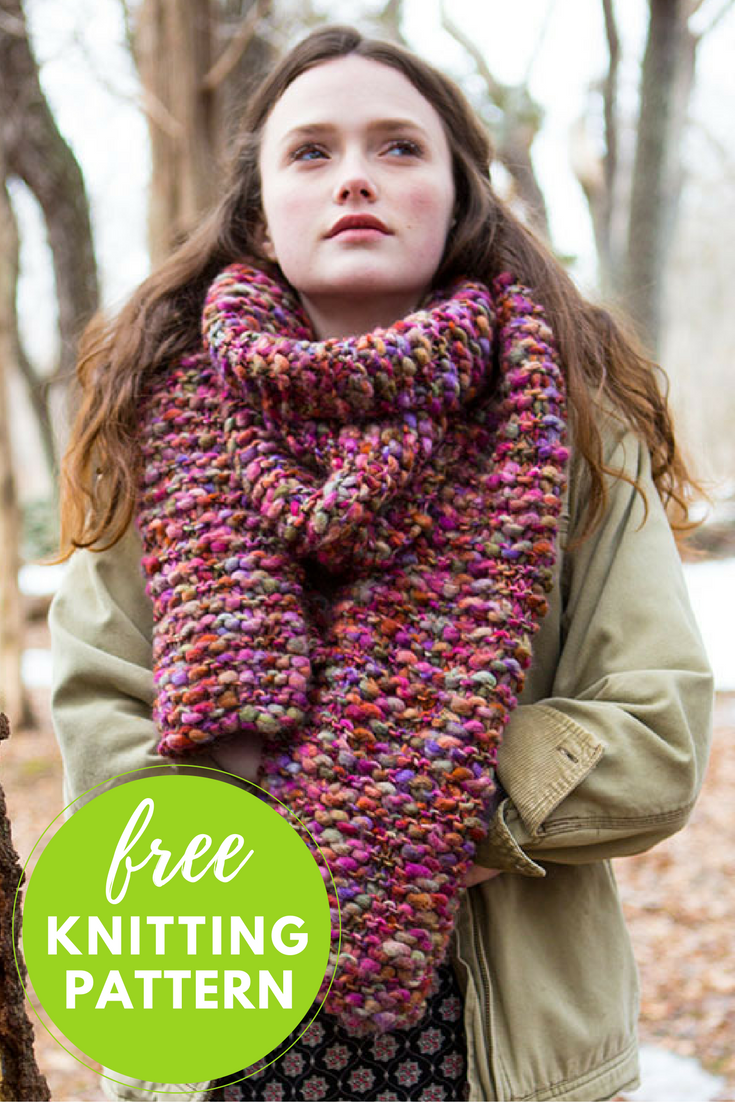 Easy Knitting Project and Ideal for a Beginner - Wood Lily Scarf FREE Knitting Pattern!