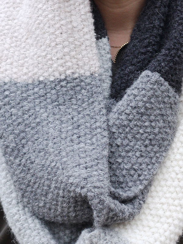 Easy Seed Stitch Cowl Free Knitting Pattern