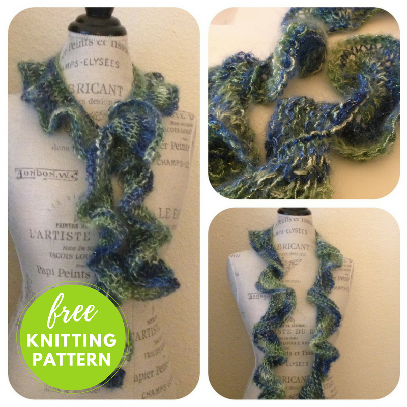 8 Row Scarf Free Knitting Pattern - One Skein Project!