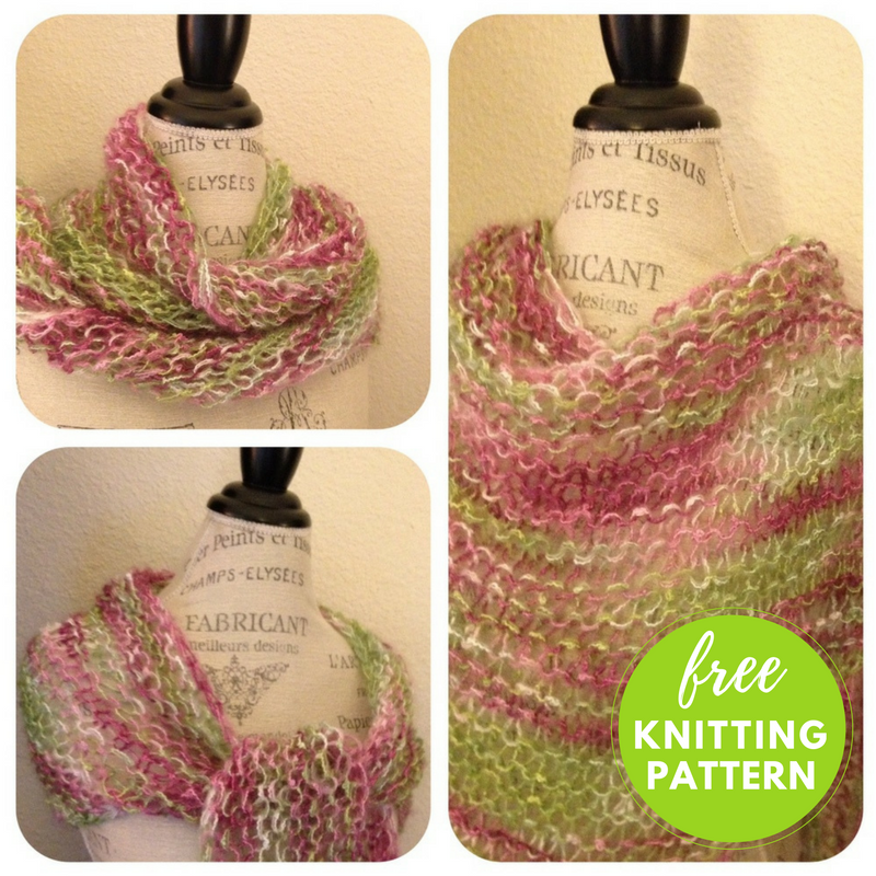 Easy Shawl Free Knitting Pattern - One Skein Project!
