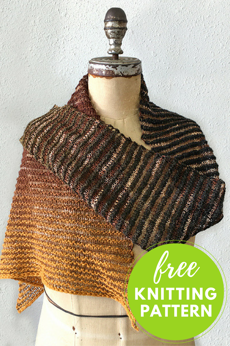 Amherst Triangle Scarf Free Knitting Pattern