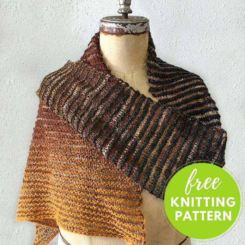 Amherst Triangle Scarf Free Knitting Pattern Blogbleknits