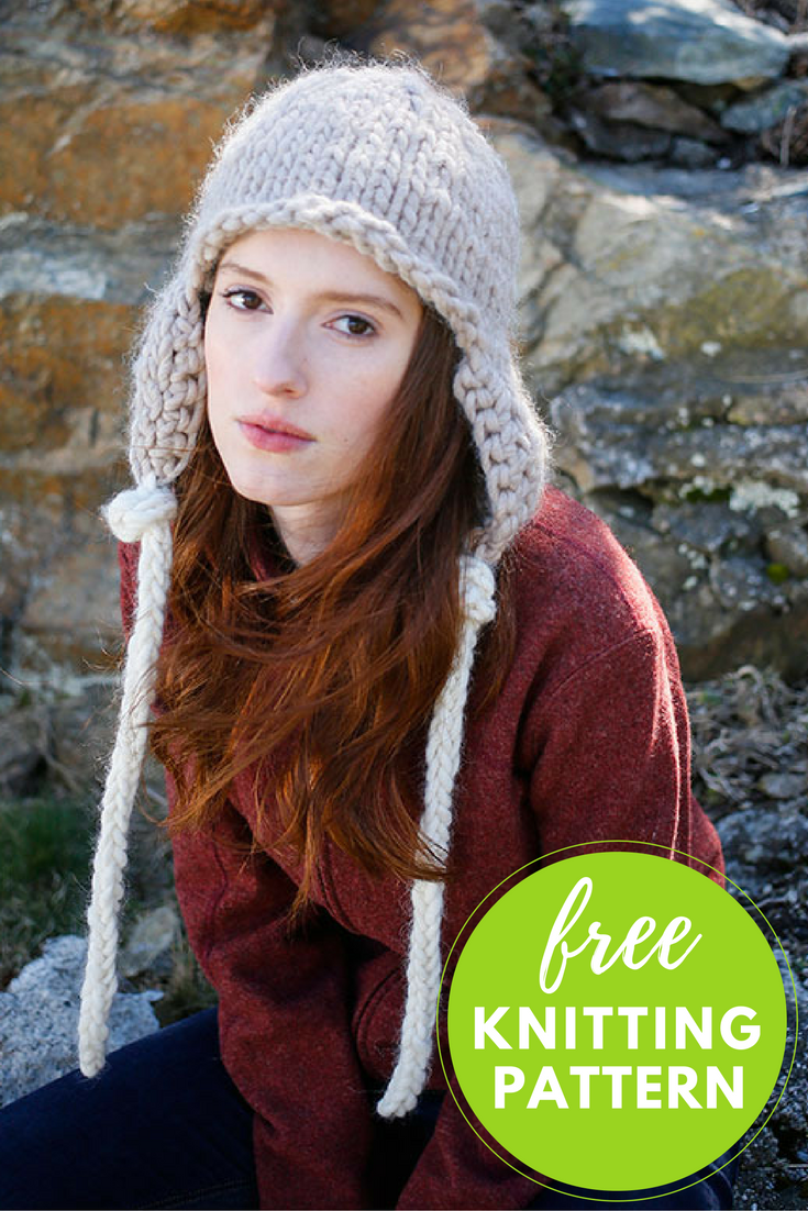Easy Earflap Hat Free Knitting Pattern