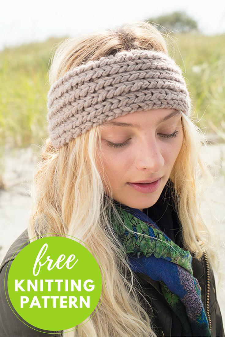 Profiteroles Headband Free Knitting Pattern