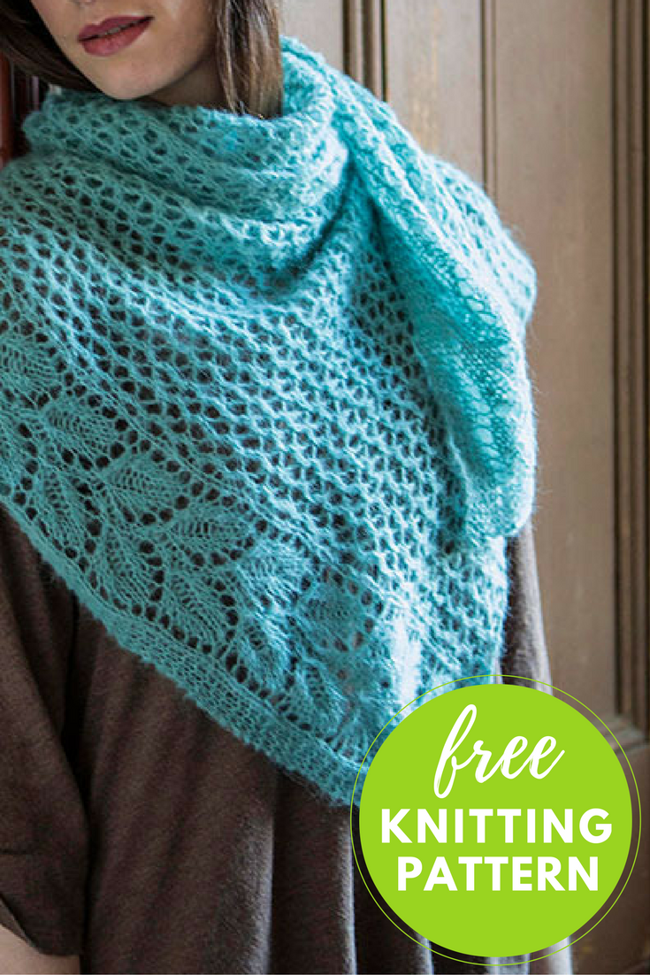 Berroco Andean Mist Squelette Shawl Free Knitting Pattern Blog