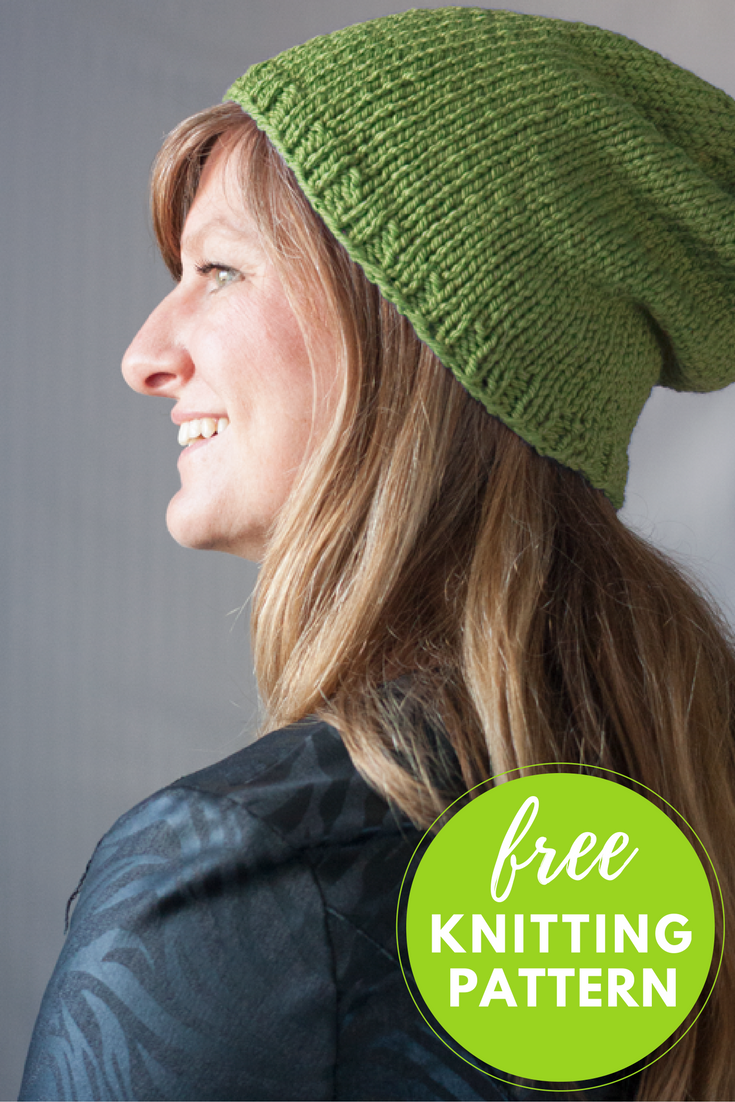 Baa Baa Beanie Free Hat Knitting Pattern - 1 skein project!