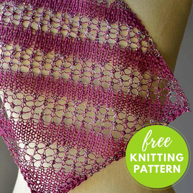 Bias Stripe Scarf Free Knitting Pattern — Blog.NobleKnits