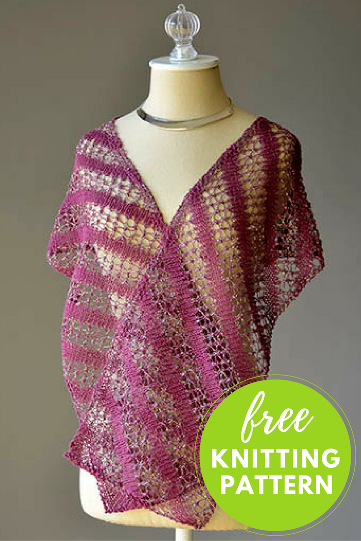 Bias Stripe Scarf Free Knitting Pattern