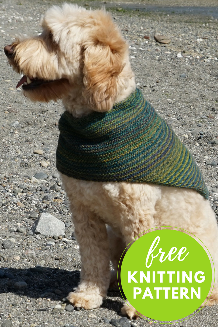 Knit this easy kerchief cowl for yourself or your four legged friend!