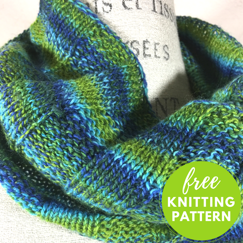 Sea Glass Cowl Free Knitting Pattern Blogbleknits