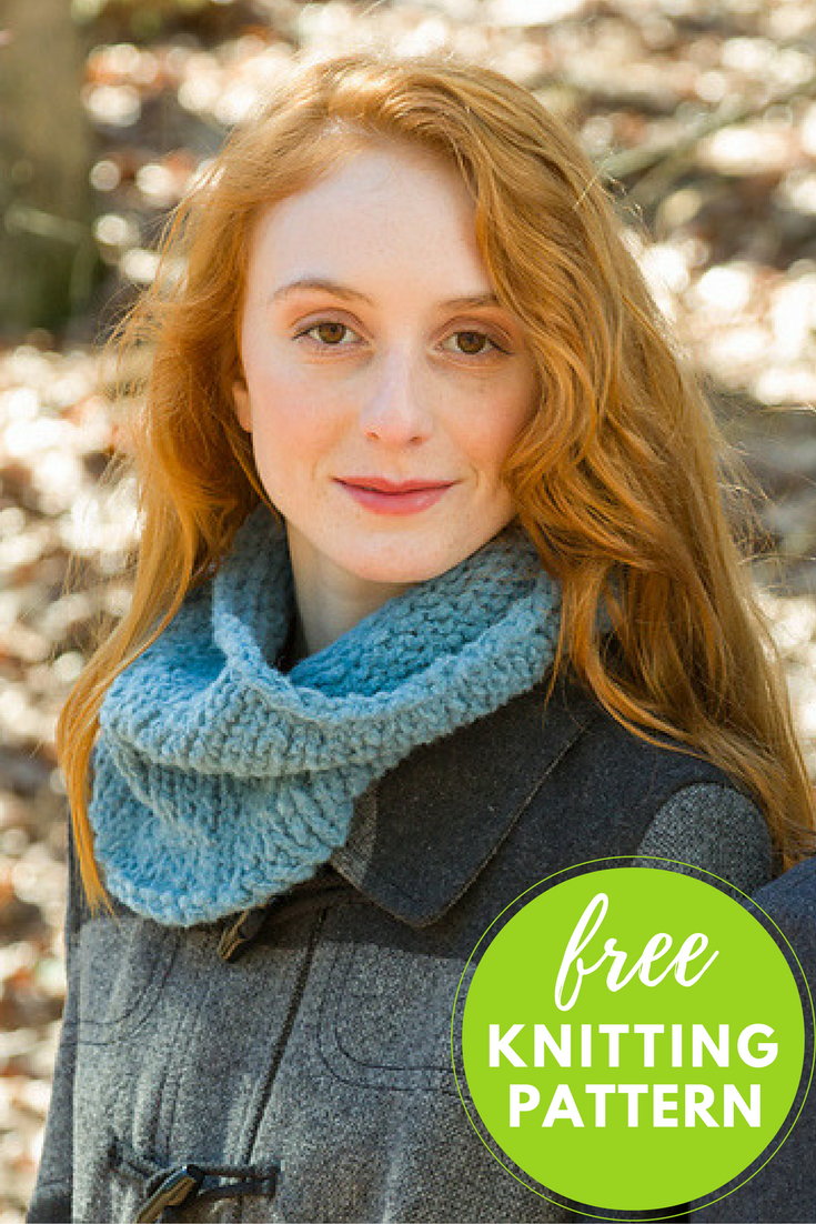 Easy Century Cowl Free Knitting Pattern - 1 skein project!