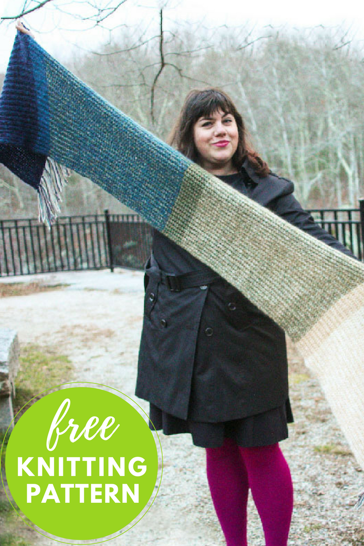 Easy Brioche Scarf Free Knitting Pattern