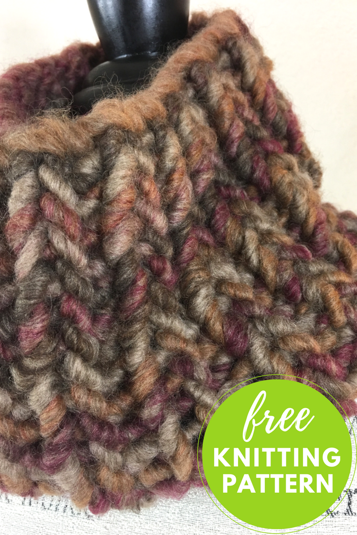 Easy Cannoli Cowl 1-Skein Free Knitting Pattern