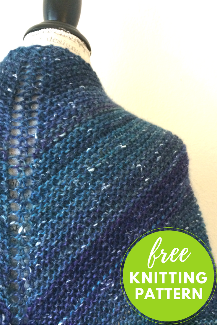 Mushishi Shawl Free Knitting Pattern - One skein project!