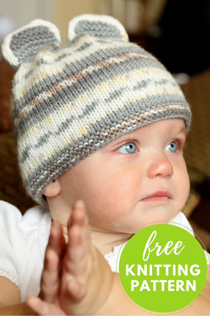 Mouse Hat Free Knitting Pattern