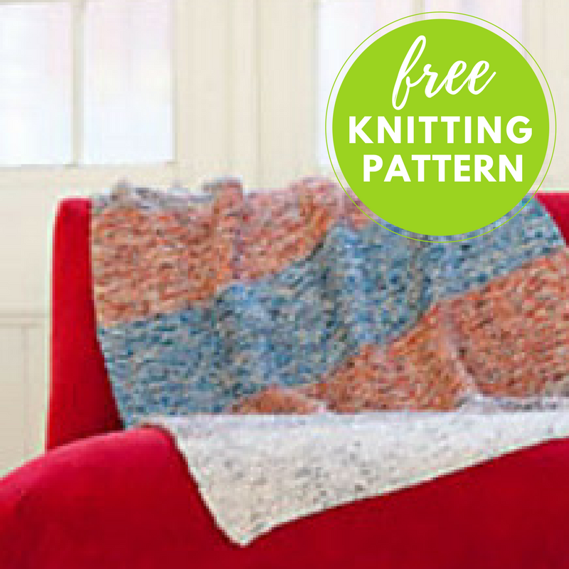 Easy Garter Blanket Free Knitting Pattern