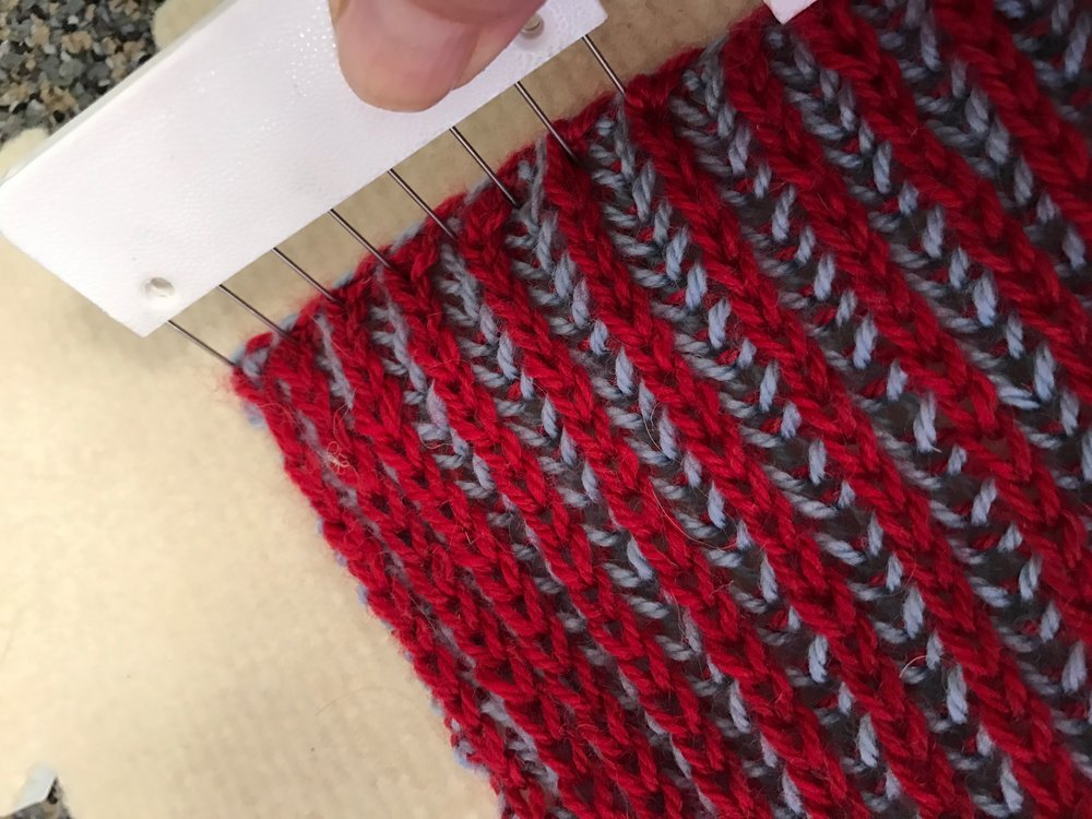 Knitter'S PRide Knit BLockers in Use