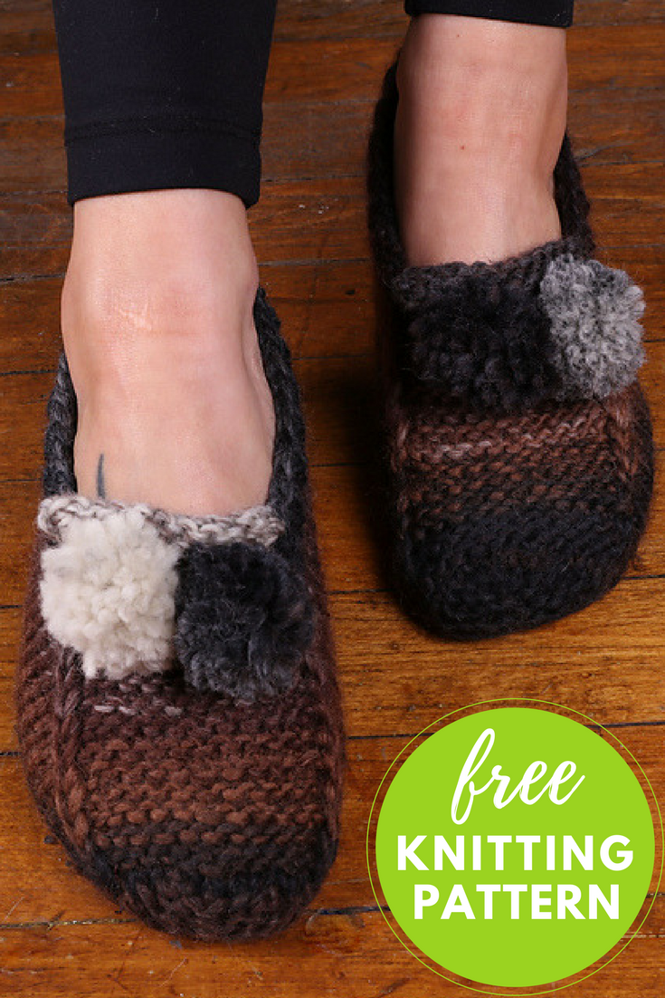Gina Chunky Slipper Socks Free Knitting Pattern — Blog.NobleKnits